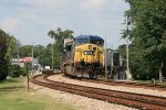 "CSX ""Diversity in Motion"" 699 and SD70MAC 4701 wait for green"